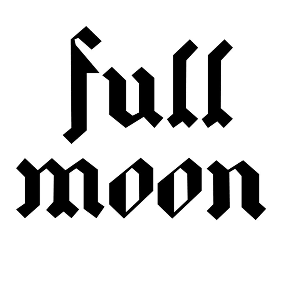 FULL MOON typography